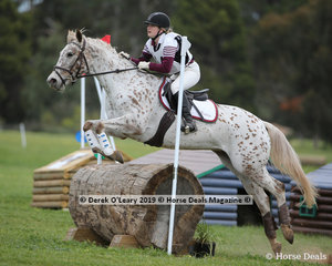 "Michaela Sutton in the Grade 2 Section 2 representing Mentone Pony Club riding ""Ima Feeling"" placing 9th in the section"