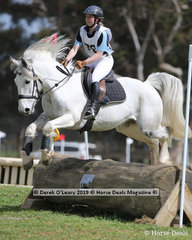 "Ebony Clavarino placed 5th in the Grade 3 Section 1 representing Corner Inlet Pony Club riding ""Splash of Class"""