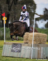 """Eve Britton from Cobden Pony Club rode """"Jackson"""" in the Grade 3 Section 1"""
