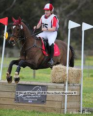 "Winner of the Grade 3 Section 1, Evanna Malkoc representing Mornington Peninsula Pony Club riding ""Tickawarra Reno"" finishing on her dressage score of 35"