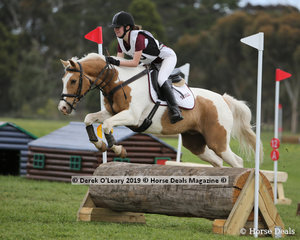 "Winners in the Grade 3 Section 2, Alexandra Phelan representing Seville Pony Club riding ""Toby One Kenobi"""
