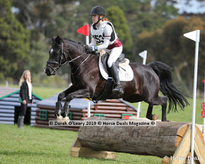 "Ayla Hand from Balnarring Pony Club placed equal 4th in the Grade 3 Section 3 riding ""Diverbrook Casino's Girl"""