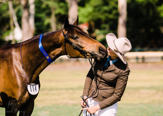 Holly Nastasi & Doongara Delight Champion Yearling