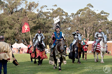 Jousters lead by judge Rod Walker