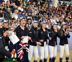 The Captains from Team NSW started the war cries at the opening ceremony