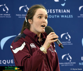 QLD competitor Tara Wilkinson sang the National anthem at the opening Ceremony for the Australian Interschool Nationals to be held at the Sydney International Equestrian Centre over the next four days