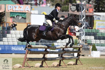Representing the Murray Valley Hunt Club, Alexandra Ferguson rode Wendy Buller's, 'Downton Abbey' to take sixth place in the Noel Mason Memorial Hunters' Plate.
