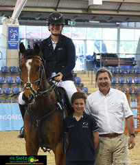 Winner of the 1.20m AM5 Show Jumping class with a very speedy jump off at the 2019 Australian Interschool Nationals is Phoebe Riordan riding her horse Diamond B Versailles while representing Queensland.