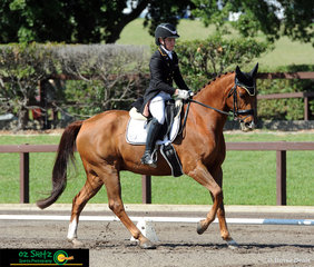 Competing at the Interschool Nationals and representing QLD is Charlotte Adamson and Jazzaround in the Secondary Advanced Dressage class..