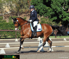 Representing New South Wales at the 2019 Interschool Nationals, held at the Sydney International Equestrian Centre is Lucy Payne and Amberwood Park Masterpiec.