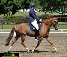 Looking great in their Elementary 3B test while representing Victoria on the final day of Interschool Nationals is Paige Koliba and Loriot Skyes The Limit.