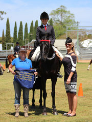 OTT Champion exhibted by Liana Bordin pictured with Sponsor Rhonda Maluta and judge Kim Taunton
