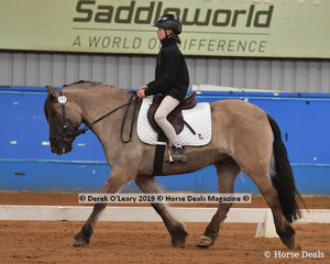 """Eva Torrens from Tasmania rode """"Rolls Royce"""" in the Trot Intermediate & Assist class placing 3rd with a score of  65.395%"""