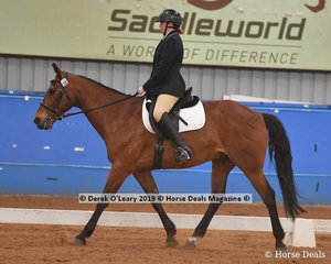 """Janet Nourse rodi """"Yeti"""" in the Trot Intermediate & Assist Championship placing 2nd with a score of 66.250%"""