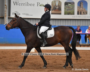 """Joanne Cuddy from Victoria rode """"Kiara"""" in the Walk Independent Class placing 3rd with a score of 67.167%"""