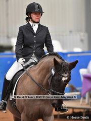 "Lauren Winbanks was the winner in the Walk Independent Class riding ""Midnight Princess"" with a final score of 77.167%"
