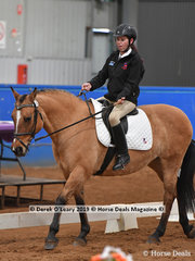 "Kelly Cracknell from Tasmania rode ""Coriander"" in the Walk Independent Class placing 5th with a score of 65.833%"