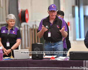 John McInerney was one of the many volunteers helping out and did a great job announcing