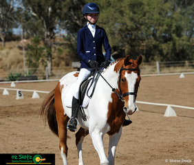 Getting ready to begin the EvA60 dressage test was Jessica Angus riding Patchwork Topdeck on the first day of the Toowoomba ODE.
