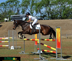 Competing on Saturday afternoon in the Two Star Show Jumping was Lesley Brodbeck and her horse Lexington Furstin Affair.