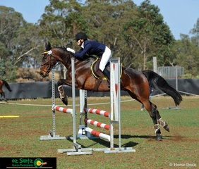 Poppy Gamble and her 10 year old Standardbred Gelding Mickey Irish competed in the EvA8o class, Poppy picked up Mickey off the track 4 years ago they started trail riding and then started competing together 12 months ago