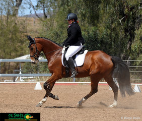 Performing well in the EvA80 was Rochelle Polzin and her horse Fairbanks Replica.