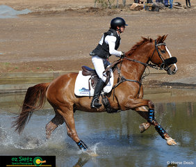 Competing in two horses in the Two Star Lesley Brodbeck had a busy day but concuered the water jump at Fence 7 with style on Silkbridge Scholar. She would go on to win the class on her other horse Lexington FurstinAffair and place 5th on Silkbridge Scholar