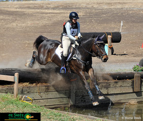 Taking a leap into the Two Star water jump of the Cross Country phase was Chantal Thenberg and her horse Querencia Warrior.