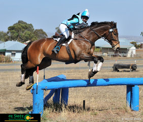 Competing in the CCI Two Star at the Toowoomba ODE Brooke Dougall and her 12 Year old Warmblood Throughbred Gelding. Brooke and Locky had a clear Show jumping round and only time faults on Cross country to finish in second on a score of 82.29.