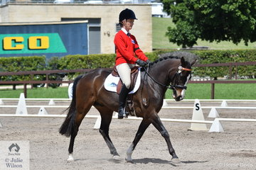 Gabi Ashmeade from SA rode Wynara Daydream in Event 1 of the Elementary Dressage.