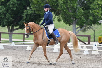 Representing host state NSW, Lucah Sturgen rode Trendee FB in Event 1 of the Elementary Dressage.