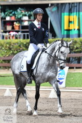 Victorian, Eloise Barton rode BP Valkyria to fourth place in Event 1 of the Novice Dressage.