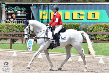 Demi Marston from SA rode Cadasha to seventh place in Event 1 of the Novice Dressage.