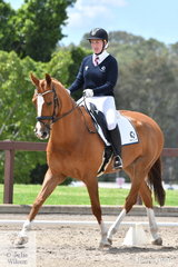 Victorian, Katelyn Thompson rode Classic Censation to win Event 1 of the Elementary Dressage.
