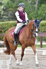 Queenslander, Amelia Starkey rode New Fai Viking in Event 1 of the Novice Dressage. The dressage competitors have a further two events conducted over the next two days.