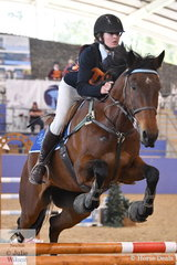 Jacqueline Coombes from NSW rode Rainman to fourth place in the Junior Showjumping Event 1.
