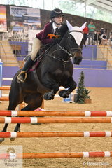 Chelsea Jefferies from Qld riding All Bling won the Junior Showjumping Event 1.