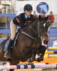Michelle Nass from NSW rode Station Master to third place in the Junior Showjumping Event 1.