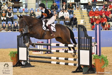 Victorian Rose Stephens riding Triple X took fourth place in the Senior Showjumping Event 1.