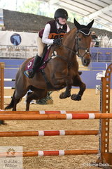 Ellie Harvey from Qld rode Knickers In A Twist to second place in the SeniorShowjumping Event 1.