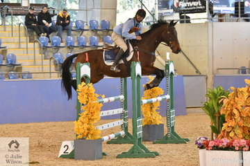 Cale Rushton from NSW riding Kirmington Casper took fifth place in the Senior Showjumping Event 1.