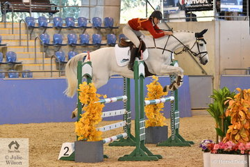 South Australian, Sophie Ludbrook rode Rochford Park Aristocrat to third place in the Senior Showjumping Event 1.