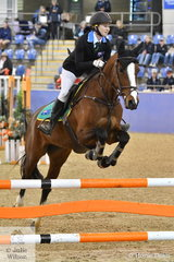 Australian Team member, Georgia Elias rode Olivia Johnson's, Sitting Pretty to win the first two rounds of the International Challenge. This class is made up of four riders from Australia, France and China riding borrowed horses.