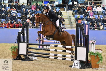 Alex Yantao Li representing China rode, William Wood's, Joseland Cosmic Star to second place in Round 2 of the International Challenge