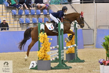 May Huguenin representing France rode William Wood's, Mumbles to fourth place in  the International Challenge.