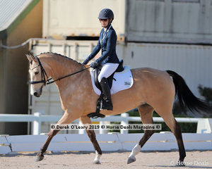 """Kylie Lynch rode """"Utopian Question"""" placing 5th in the Preliminary Championship with a score of 26 points"""