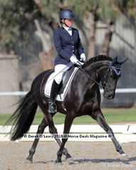 "Nicole Mcown rode ""Mellizo Park Furst Dance"" placing 5th in the Medium 4A/4B Championship with a score of 26 points"