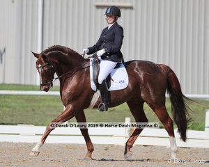 """Melanie Minter rode """"Jaybee Don Grande"""" placing 6th in the Medium 4a/4b Champiosnhip with a score of 25 points"""