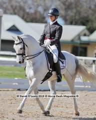 """Louise Maguire rode """"Mithril Vagabond placing 4th in the Prix St George on Saturday with a score of 64.265%"""