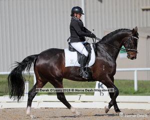 """Elizabeth Sheather placed 3rd in the Medium 4a/4b championship riding """"Coldstream Universe"""" with a score of 28 points"""